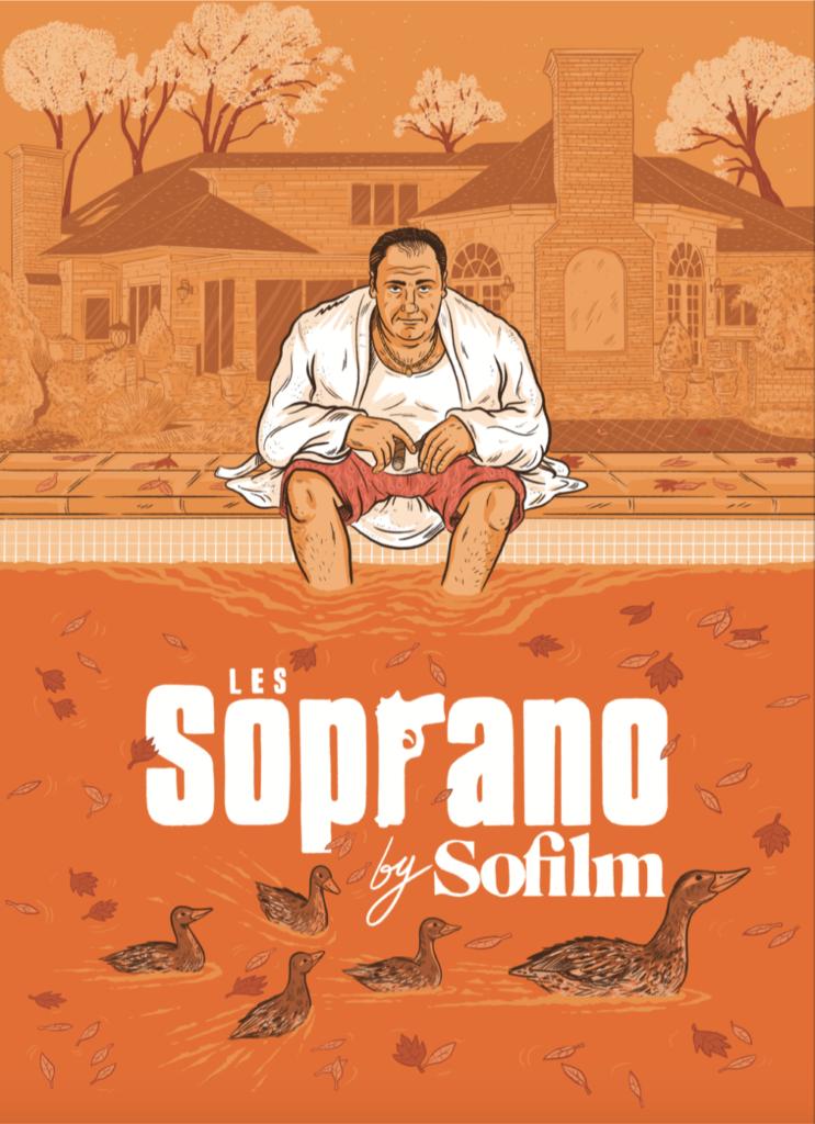 LES SOPRANO + l'affiche + 1 an d'abo Sofilm